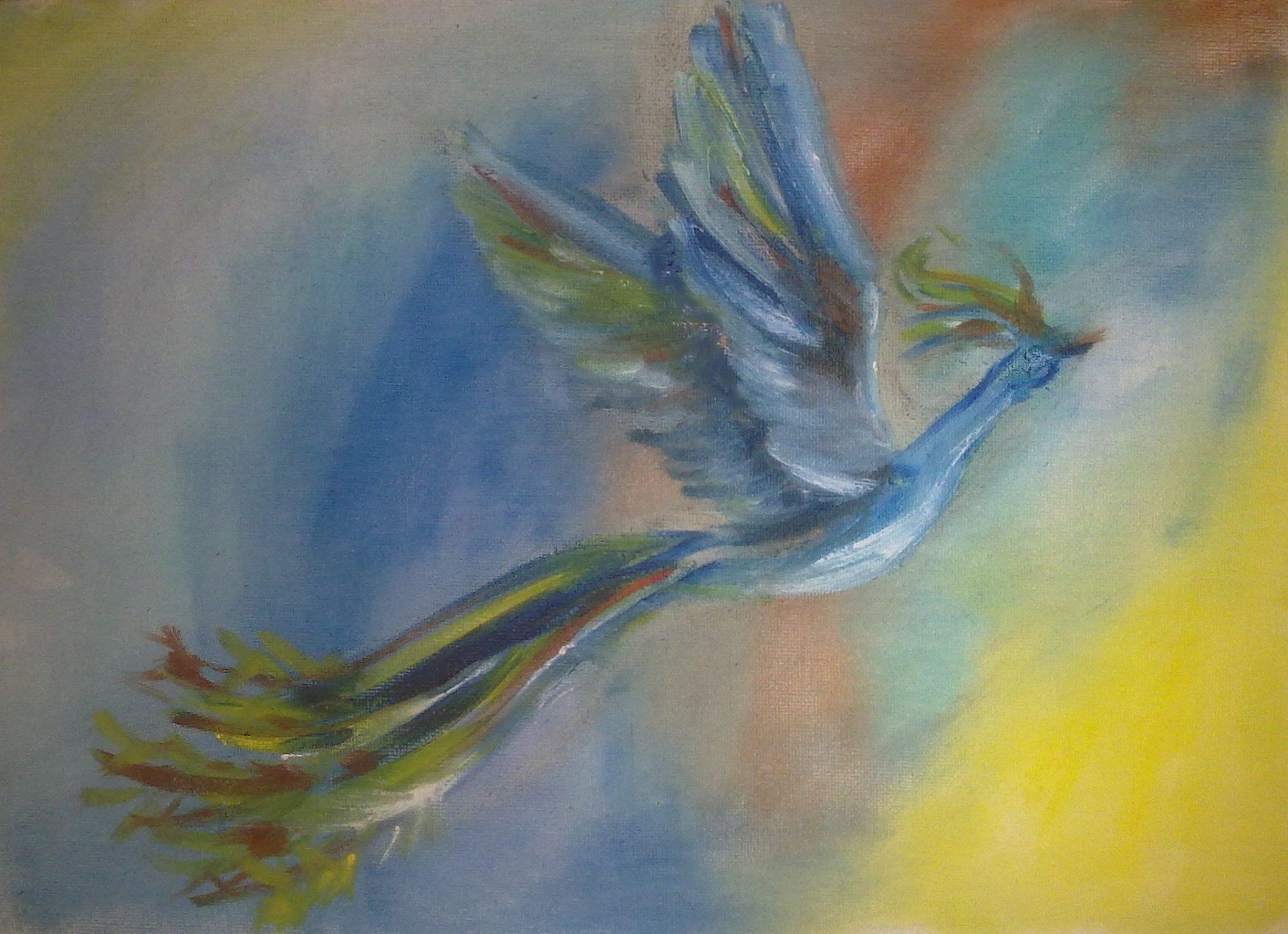 Птица счастья ,масло